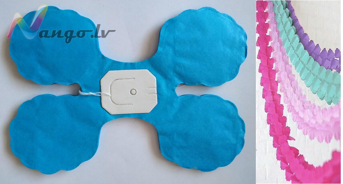 Garlands decor light blue 3,65 meters