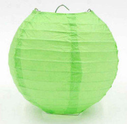 Laterna papīra gaiši zaļš 30 cm