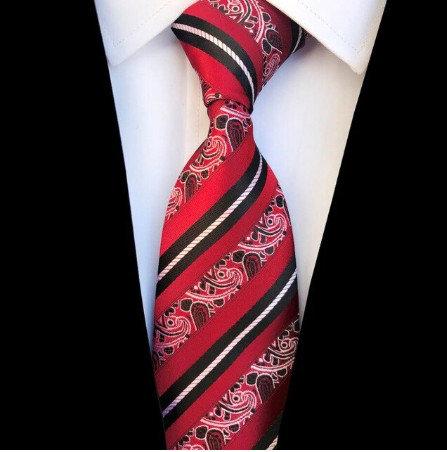 Žakarda kaklasaite ar svītrainu rakstu - K19