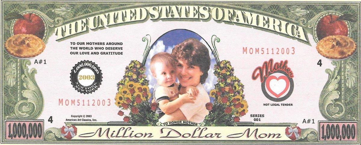 Miljons dolāri mammai, suvenīra banknote