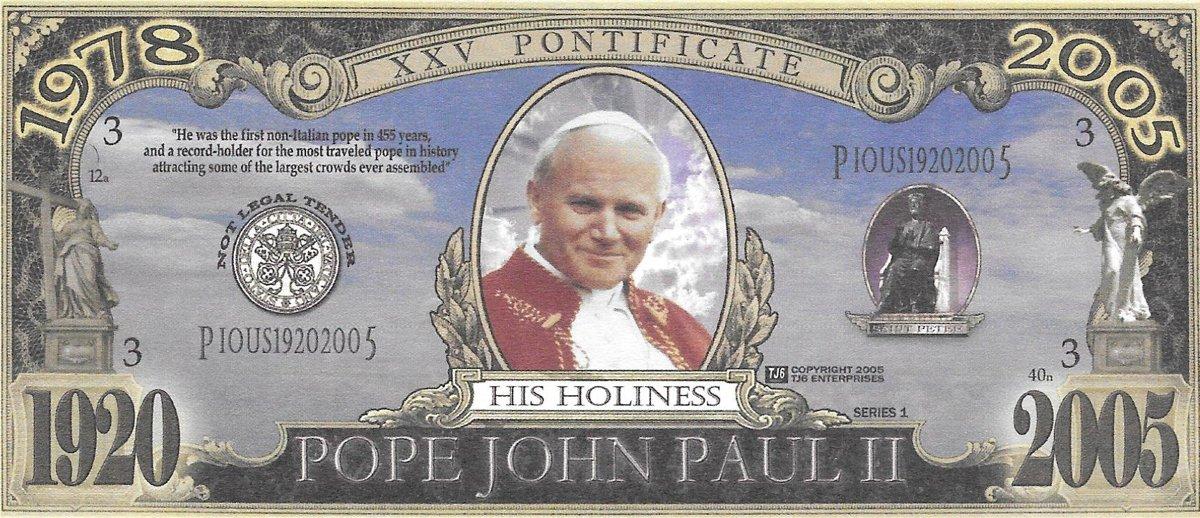 Pope John Paul II, suvenīra banknote