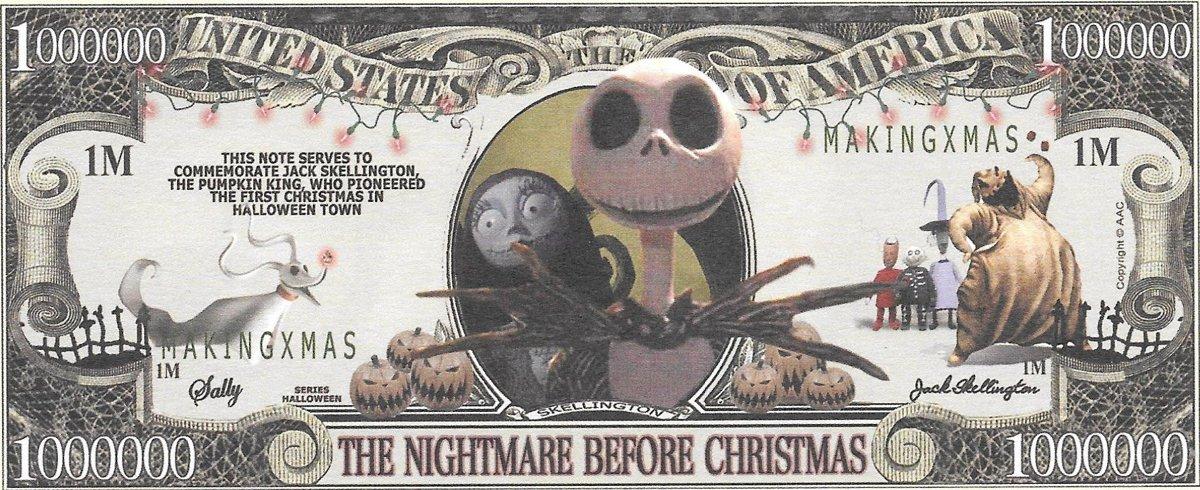 Miljons dolāri - Hellovīnu, suvenīra banknote