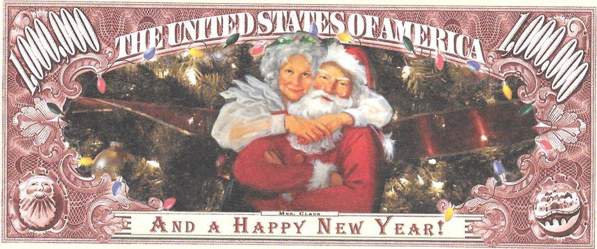 Miljons dolāri - Merry Christmas, suvenīra banknote
