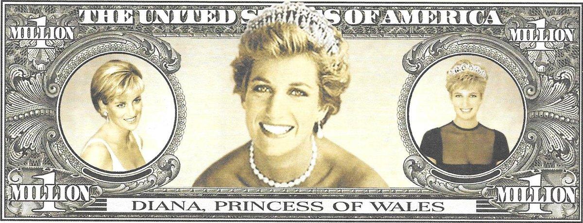 Miljons dolāri - Princess Di, suvenīra banknote