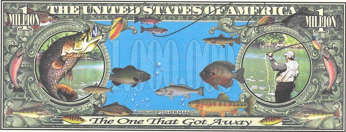 Million Dollars  - Fisherman, souvenir banknote