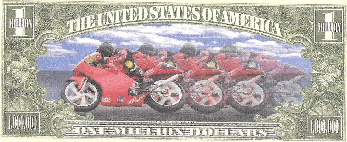 Miljons dolāri - Road Warrior, suvenīra banknote