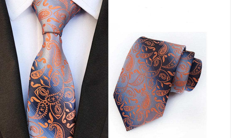 Žakarda kaklasaite ar rakstu - K15