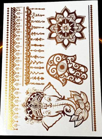 Temporary gold tattoos PT26