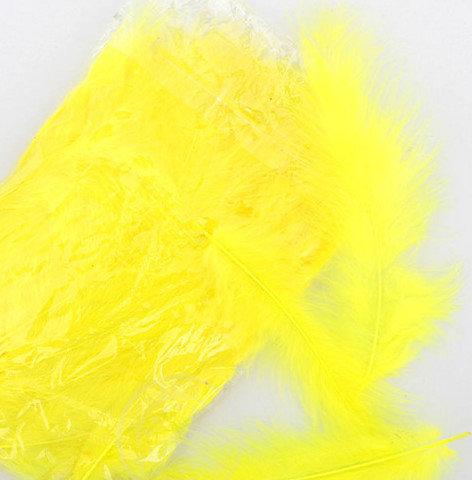Decor color feather, yellow 25 ptc.