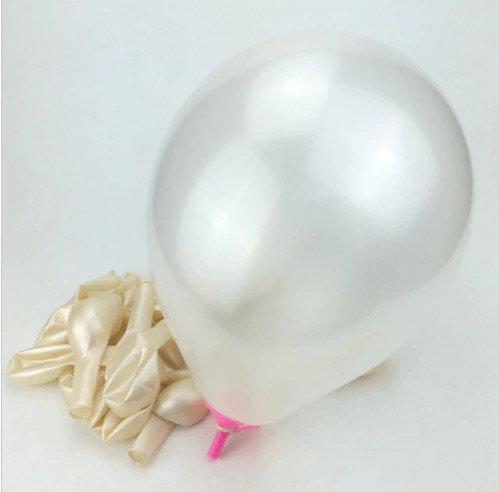 Balons - piena balts - 25 cm