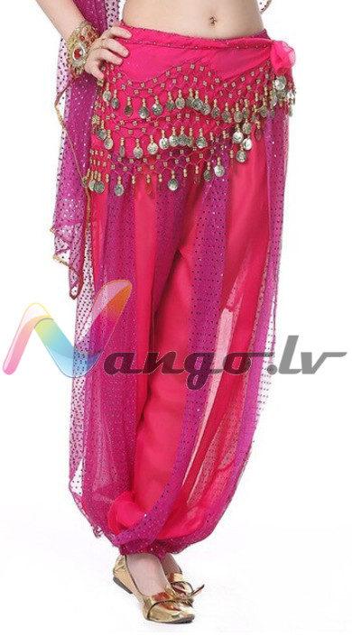 Pants for oriental dances, roze