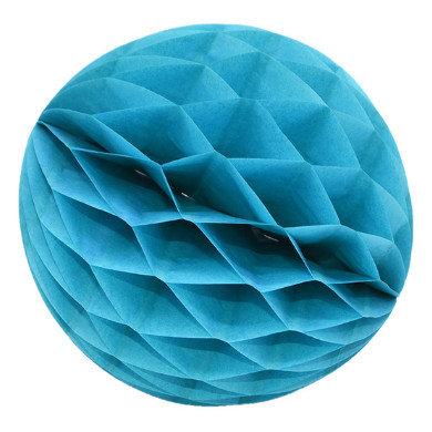 Papīra bumba - šūnu bumba - 8 cm - gaiši zils