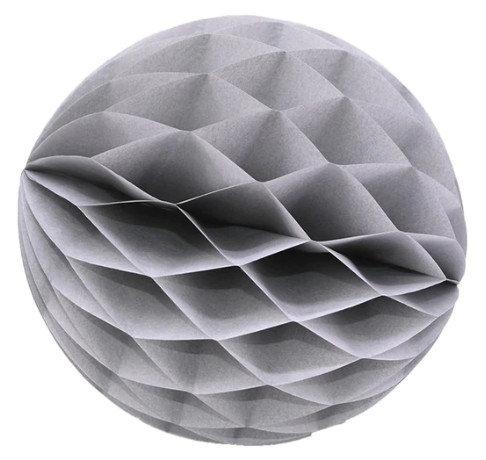Papīra bumba - šūnu bumba - 8 cm - pelēka