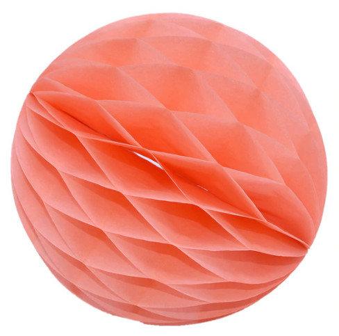 Papīra bumba - šūnu bumba - 8 cm - persiku krāsā