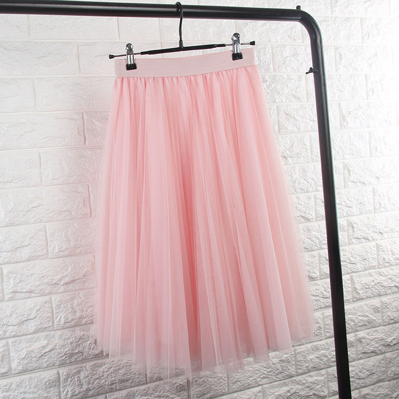 Tilla svārki, plisēti - maigi rozā