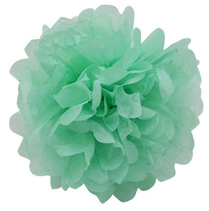 Pompons - zīdpapīra zieds - 15 cm - piparmētru