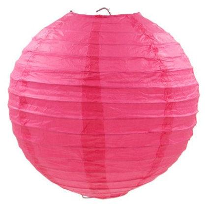 Laterna papīra rozā 30 cm