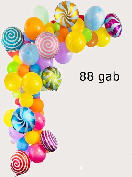 "Balonu, komplekts "" Komfekšu ballīte "" 88 gab"