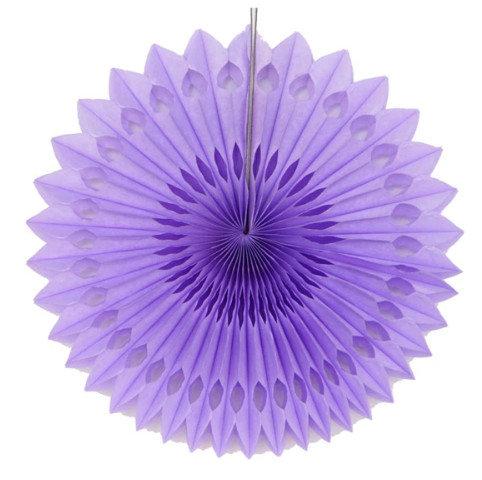 Atvērams papīra svētku dekors - rozete - 20 cm, gaiši violeta