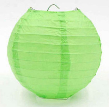 Lanterns light green 30 cm