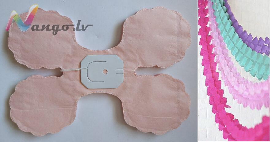 Гирляндa декор светло-розовый 2,  3,65 метра