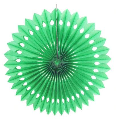 Atvērams papīra svētku dekors - rozete - 20 cm, gaiši zaļa