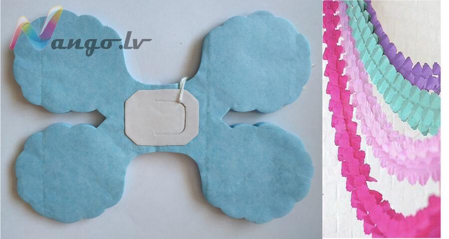 Гирляндa декор бледно голубой 3,65 метра