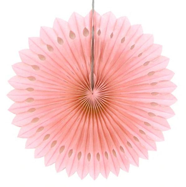 Atvērams papīra svētku dekors - rozete - 20 cm, persiku krāsa