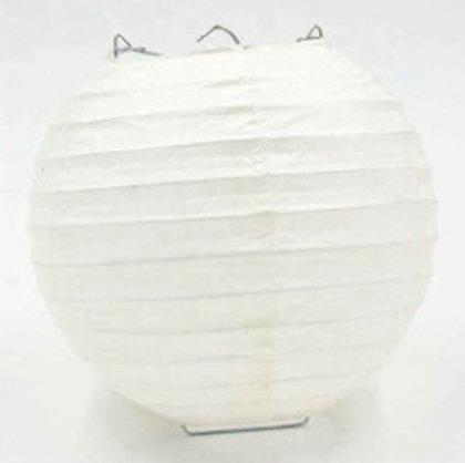 Laterna papīra balta 20 cm