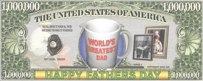 Million Dollars for Fathers, souvenir banknote