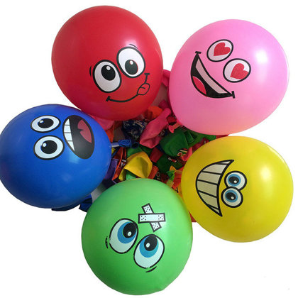 Baloni emocijas - komplekts 5 gab - 30 cm