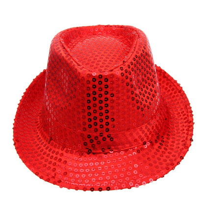 Disco hat is red