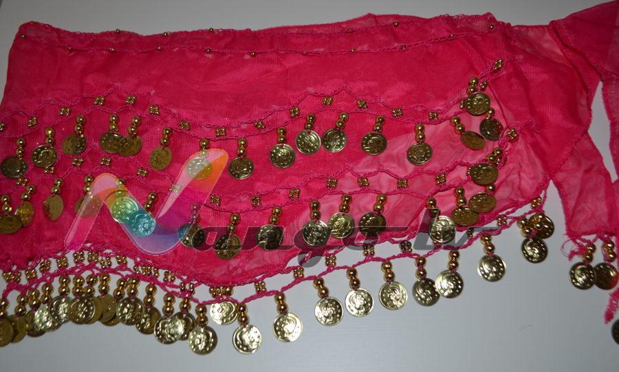 Hip belt for oriental dances, pink