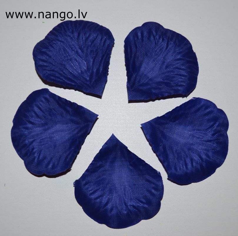 Rožlapiņas, zila, 100 gab