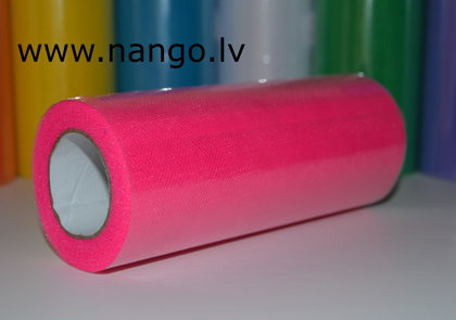Ribbon from tulle pink 22 m x 15 cm