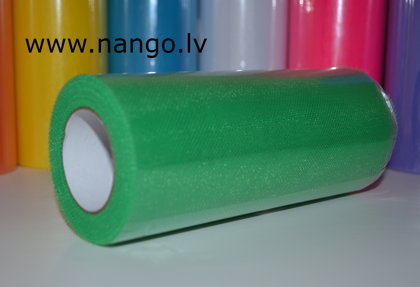 Ribbon from tulle green 22 m x 15 cm