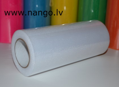 Ribbon from tulle white 22 m x 15 cm