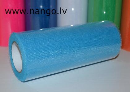 Tulle Roll 22 m x 15 cm light blue