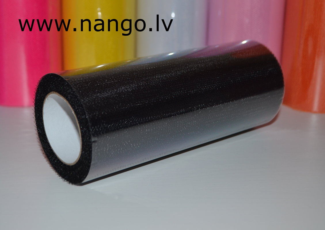 Ribbon from tulle black 22 m x 15 cm
