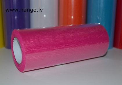 Tills ruļļos 22m x 15cm tumši rozā