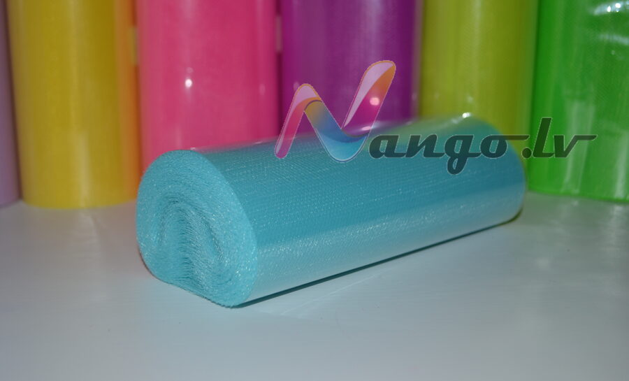 Ribbon from tulle 22 m x 15 cm light blue2