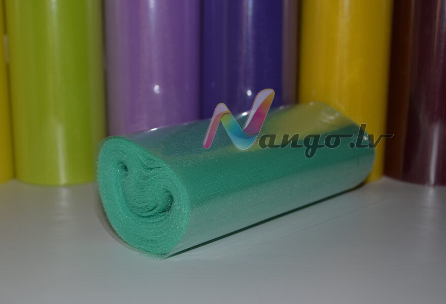 Ribbon from tulle 22 m x 15 cm mint