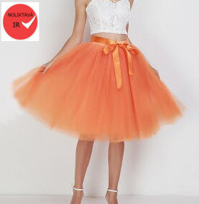 Tulle skirt, orange
