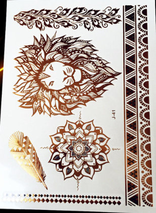 Temporary gold tattoos PT17