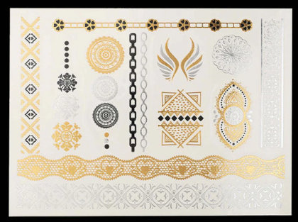 Temporary gold tattoos PT29