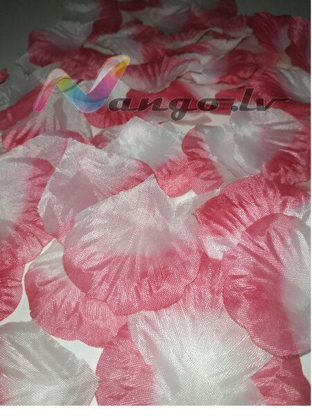 Roze petals, pink-white, 100 pc
