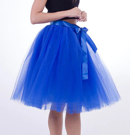 Tulle skirt, blue