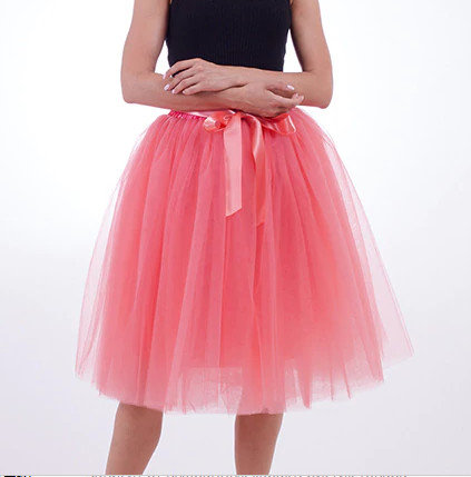 Tulle skirt, watermelon color