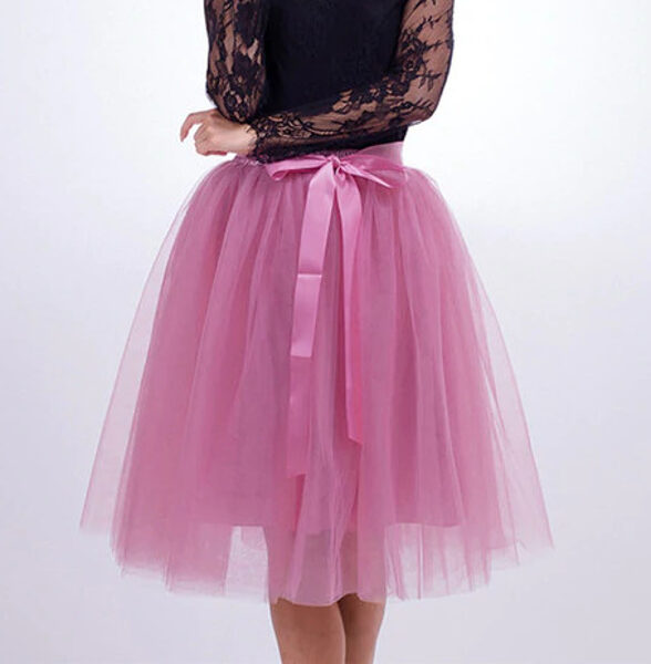 Tulle skirt, old roze