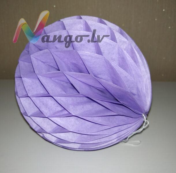 Бумажные шары - соты 15 см светло-фиолетовый